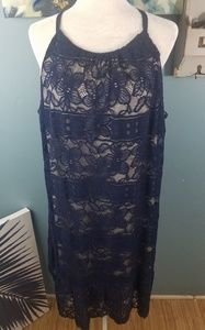 Alfani Navy Blue Lace Dress Size 20W